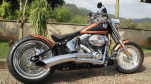 harley faty boy customizada escapamento easy raiders